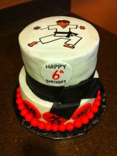 arts martiaux birthday cake topper personnalisé tout nom et âge Karaté