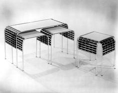 MID-CENTURIA : woodling hall interlace nesting tables
