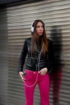 #theglamorouses #esonthego #pink #riverisland #sony #headphones #zara #leatherjacket