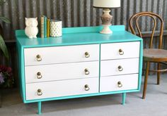 Not Too Shabby Retro Vintage Furniture 1965 Vintage Alrob Chest of Drawers   Not Too Shabby