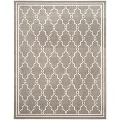 Amherst Dark Gray/Beige 8 ft. x 10 ft. Indoor/Outdoor Rectangle Area Rug