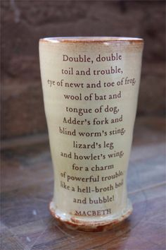Shakespeare mug - Double, double, boil and trouble…