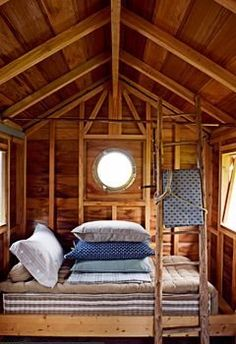this is a neat idea for a treehouse, studio house or summer guesthouse, about the size of our studiohouse