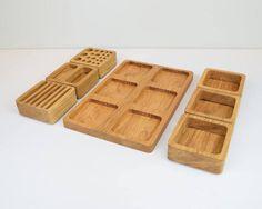 Jewerly making desk dressing tables 45 Ideas for 2019 Desk Redo, Wooden Desk Organizer, Oak Desk, Diy For Men, Makeup Organization, Jewellery Storage, Box Design, Office Desk, Cnc