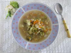 Sopa de brócoli e couve flor