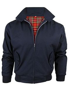 Harrington Jacket, navy by Made In England - $72.  May need larger size for sleeve length and get it tailored down