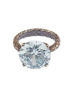 Cubic zirconia and silver ring | Bottega Veneta | MATCHESFASHION.COM UK