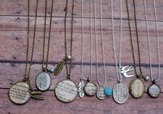 bookpage necklaces by hendersweet  (to kill a mockingbird)