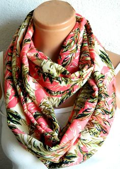 Infiniti ScarfLoop Scarfpomegranate by WomensScarvesTrend on Etsy, $19.00
