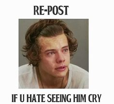 It hurts I bet 99% of you won't repost only people with true feelings for him will repost <<< Him (or any of the boys) crying makes me cry too. It's heartbreaking. :'(<<<<< this is like torture to watch him cry!!!! It is like the saddest thing I have ever seen!!!