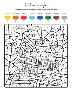 your child painted the whole motif on the Halloween template with the colors . your child painted the whole motif on the Halloween template with the colors . Bricolage Halloween, Manualidades Halloween, Casa Halloween, Halloween Magic, Halloween Crafts For Kids, Halloween Templates, Halloween Patterns, Halloween Color By Number, Halloween Coloring Pages