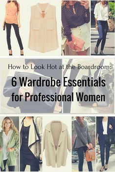 Exude confidence at the boardroom while staying stylish with these wardrobe essentials.   Lookbook Store Style Tips