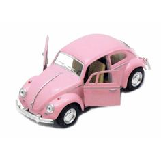 LARGE VW BEETLE PULL BACK CAR | PINK – Dinky & Dandy