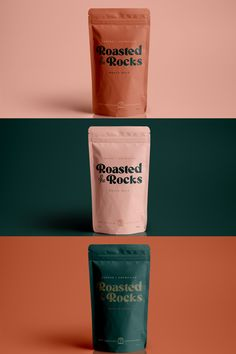 Roasted On The Rocks—a boutique cafe and bar located in New Orleans, specializing in coffee and coffee inspired cocktails as well as a small bites Cookie Packaging, Tea Packaging, Food Packaging Design, Pretty Packaging, Packaging Design Inspiration, Brand Packaging, Luxury Packaging, Graphic Design Branding, Label Design