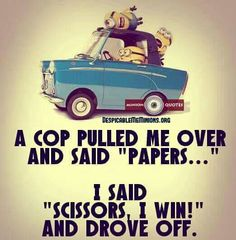 37 Very Funny minions Quotes 16 Jokes of the day for Sunday, 09 December. 40 Snarky Funny Minions to Crack You Up - 150 Funny Minions Quotes and Pics Top 97 Funny Minions quotes and sayings 100 Disney Memes That Will Keep You Laughing For Hours Lo. Funny Minion Pictures, Funny Minion Memes, Minions Quotes, Funny Texts, Hilarious Jokes, Minion Humor, Minions Pics, Minion Sayings, Cop Jokes
