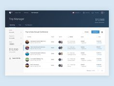 TRAVO Dashboard / Trip Manager designed by Csaba Hodgyai for Nōtan. Connect with them on Dribbble; Dashboard Ui, Dashboard Design, Ui Ux, Website Layout, Web Layout, Design Layouts, Flat Web Design, App Design, Web Design Mobile