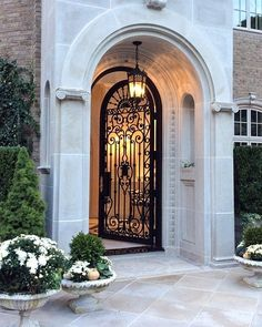 The Enchanted Home - Rediscover Your Home Door Design, Exterior Design, Enchanted Home, Foyer Decorating, House Entrance, Facade House, Classic House, House Goals, House Front