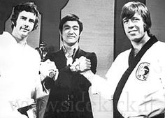 Bob Wall, Bruce Lee and Chuck -Norris Hong Kong TVB.