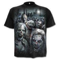 Spiral Direct The Walking Dead - Zombie Horde unisex T-shirt zwart - X