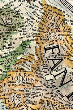 """""""The map is divided into four distinct continents that symbolize the different literary forms: drama, poetry, prose fiction, and prose nonfiction."""" 