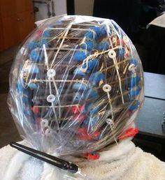 Perm Rods, Perms, Roller Set, Curlers, Christmas Bulbs, Hair Beauty, Holiday Decor, Vintage, Christmas Light Bulbs