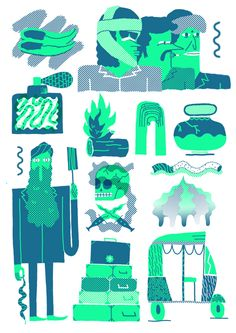 Posters by Jose Miguel Mendez by George Grace Represents , via Behance