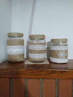 Jar, Home Decor, Jute, Room Decor, Jars, Home Interior Design, Decoration Home, Glass, Home Improvement