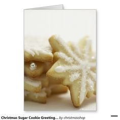 Christmas Sugar Cookie Greeting Cards and Stickers