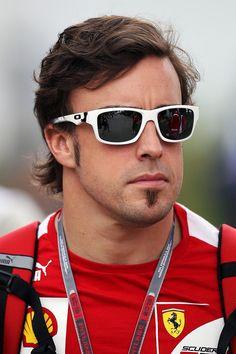 3c7377b0fd0 Fernando Alonso wearing Oakley Jupiter Square Sunglasses at the Malaysian  GP Wholesale Sunglasses
