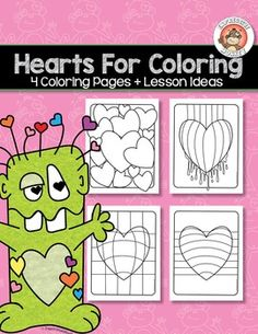 """Not only will your students will """"LOVE"""" these Hearts for Coloring, but  you can also sneak in some lessons about colors as you have them choose a color scheme to color them in.  Of course you can just color the hearts any way you want.  Coloring is a great way to relax your mind and people of all ages enjoy relaxing by coloring.However, if youd like to use these sheets for educational purposes, I've provided a few ideas along with color definitions to help you teach about color."""