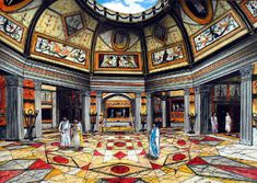 Sala octogonal de la Domus Aurea (reconstrucción) | Arte romano (s. I d.C.)