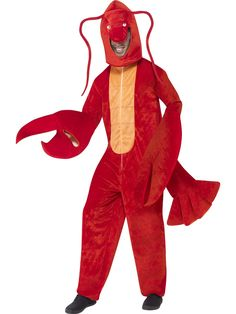 You can buy a Smiffy's Lobster Costume for costume parties from the Halloween Spot. This red lobster costume is All in One costume with Hood for a prefect look. Animal Costumes For Adults, Adult Costumes, Halloween Costumes, Diy Costumes, Crab Costume, Lobster Costume, Costumes Starting With L, Hummer, Fancy Dress Animals