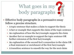 Image result for structure of a paragraph in an essay