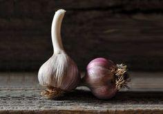 El ajo  es un potente antibiótico natural. - Beneficios del ajo .-