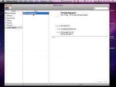 How To print return labels in Mac OS X using Address Book - YouTube
