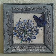 Have you treated yourself to any of these wonderful floral designs by Jayne Nestorenko yet? Groovi plates or stamps; you kn. Clarity Card, Agapanthus, Parchment Craft, Card Making Techniques, Butterfly Cards, Cardmaking, Decorative Boxes, Paper Crafts, Crafty