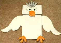 dove puppet for the Holy Spirit paper bag crafts, paper bag puppet dove, paper bag puppets, bibl craft, paper bags, kid craft