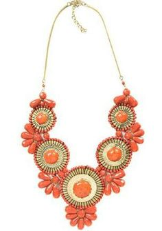 Coral statement necklace<3