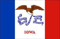 Iowa state flag - The Hawkeye State