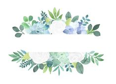 Floral Clipart - White roses and succulents frames, flower border arrangements, hand painted waterco Watercolor Background, Watercolor Flowers, Watercolor Paintings, Frame Floral, Flower Frame, Art Floral, Flower Backgrounds, Wallpaper Backgrounds, Succulent Frame