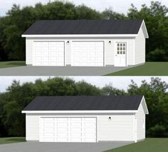 Want to find out about build your own shed plans? Then here is without doubt the right place! 2 Car Garage Plans, Garage Plans With Loft, Garage Workshop Plans, Garage Ideas, Two Story Garage, Workshop Storage, Detached Garage Designs, Garage Door Design, Garage Doors
