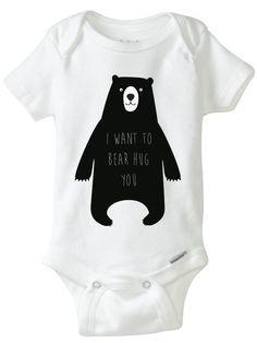 Bear Hug onsie free printable transfer <3