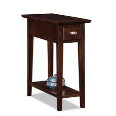 @Overstock - A rich, medium oak finish, designed to complement many popular color and furnishing approaches, makes this narrow table versatile enough to complement any decor. This table features surface, drawer and display shelf  storage.  http://www.overstock.com/Home-Garden/Favorite-Finds-Chairside-Recliner-Table/7280145/product.html?CID=214117 $99.99