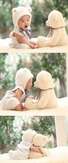 Cute photo shoot with the child's favorite toy or stuffed animal