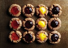 The great thing about these roasted-almond thumbprint cookies? They can be any shape or size, and the fillings are customizable.