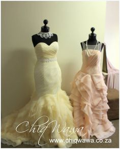Coloured wedding dresses now in stock for fittings - Pretoria, South Africa #colourweddingdress