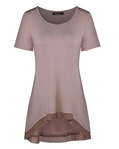 Special Offer: $11.99 amazon.com Features: 1.Classy high quality fabric,very comfortable to touch and wear 2.Short sleeves,Casual Style 3.Pictures may slightly vary from actual item due to lighting and monitor. About OUGES Brand: OUGES is a professional brand that specialize on...