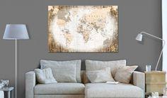 Obraz na korku - Enclave of the World [Cork Map]. Wooden Frames, Frames On Wall, Framed Wall Art, Cork Map, Map Art, The Ordinary, Love Seat, Wall Decor, The Originals
