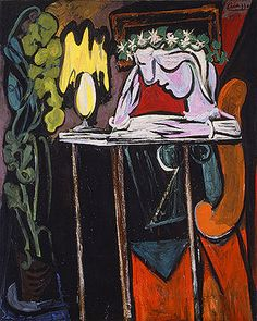 reading at the table- Pablo Picasso