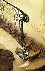 Majorelle - Rampe d'escalier pour la maison Bergeret